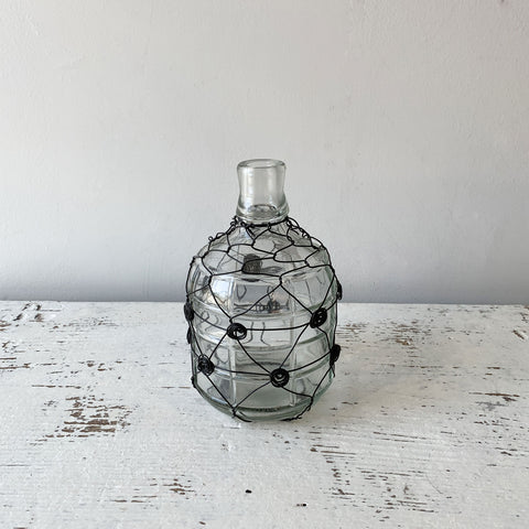 Wire Wrapped Glass Jug - Small
