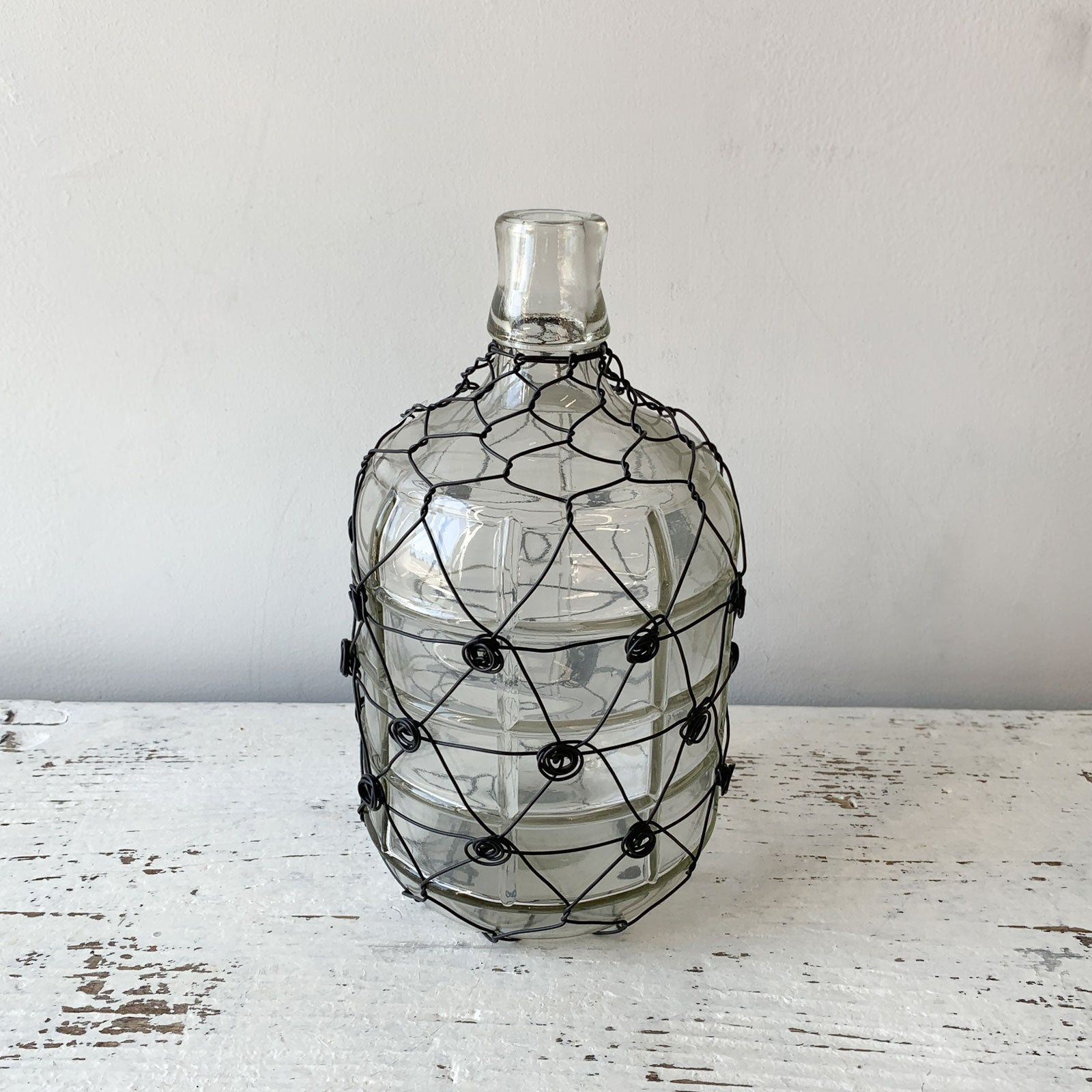 Wire Wrapped Glass Jug - Medium