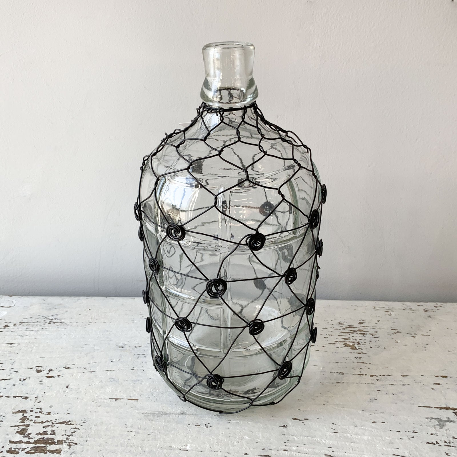 Wire Wrapped Glass Jug - Large