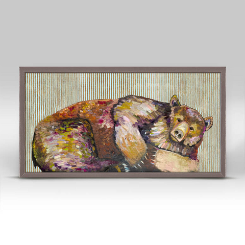 Grizzly Bear Dreams Mini Framed Canvas