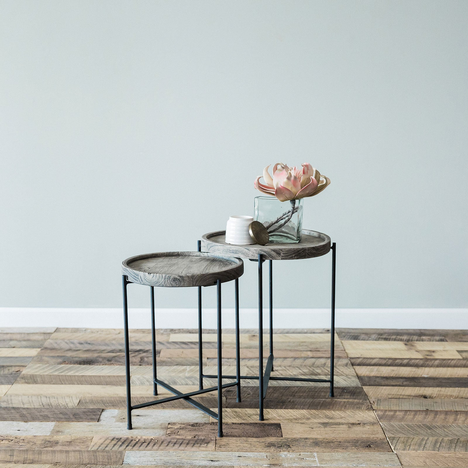 Elena Side Table- Small Grey