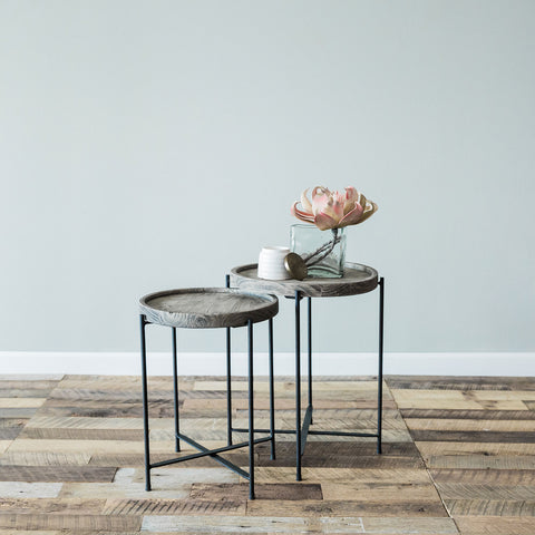 Elena Side Table- Large Grey