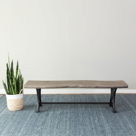Foundry Dining Bench - Grey