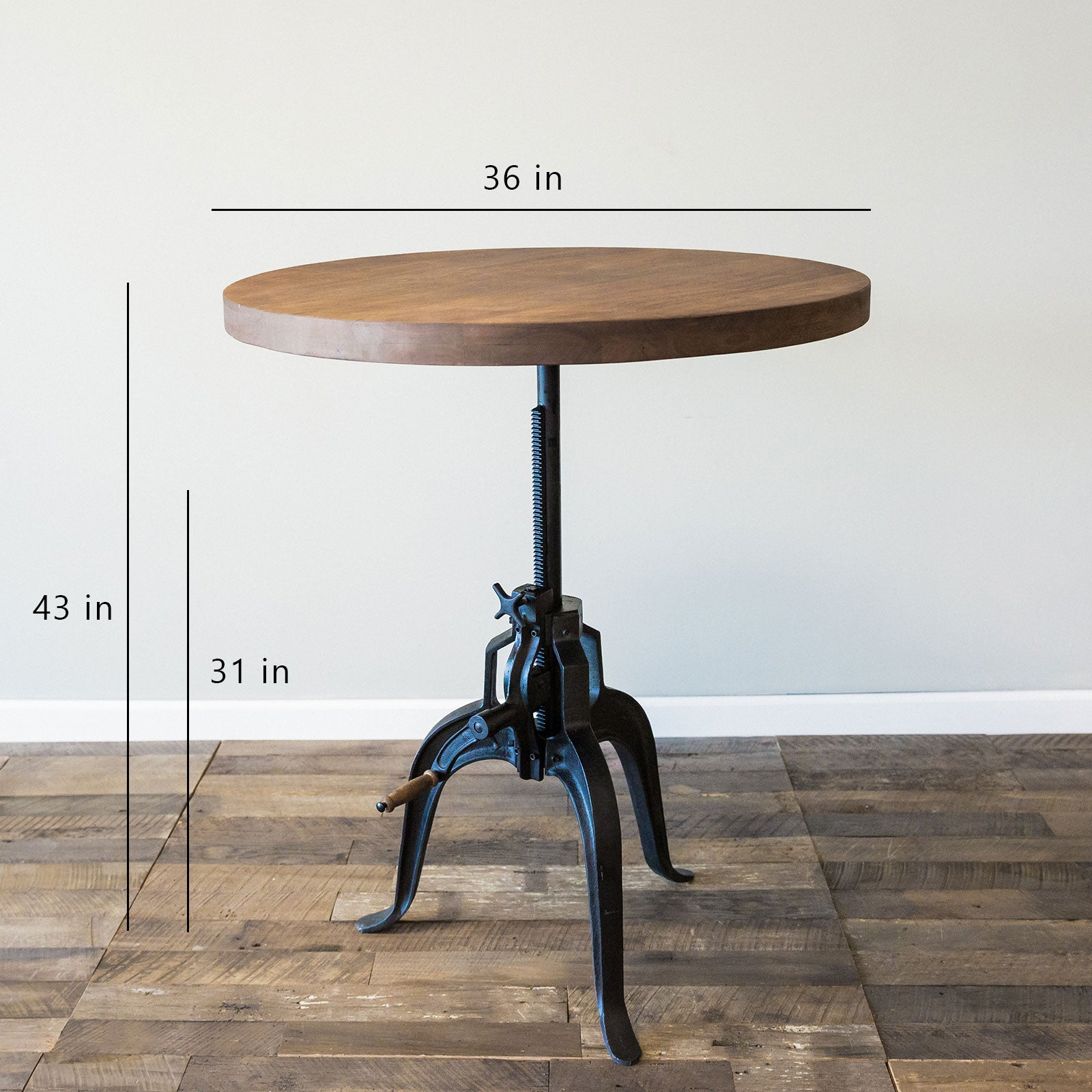 Foundry Crank Bistro Table- Chestnut