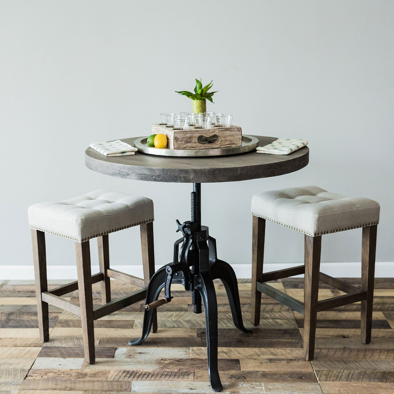 Foundry Crank Bistro Table Grey Trove Warehouse