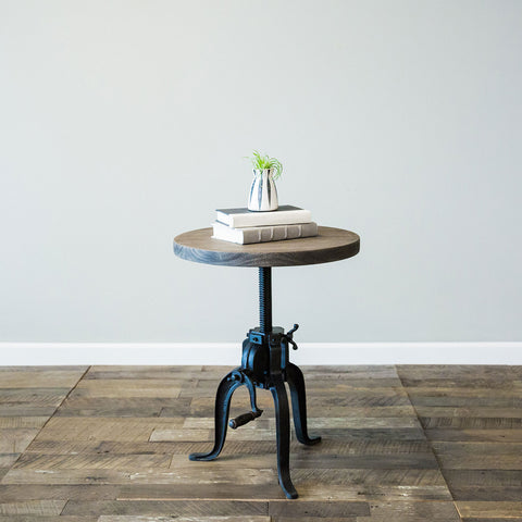 Foundry Crank Side Table - Grey