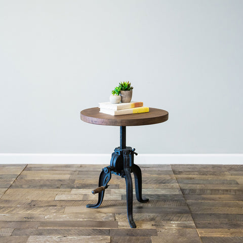 Foundry Crank Side Table- Chestnut