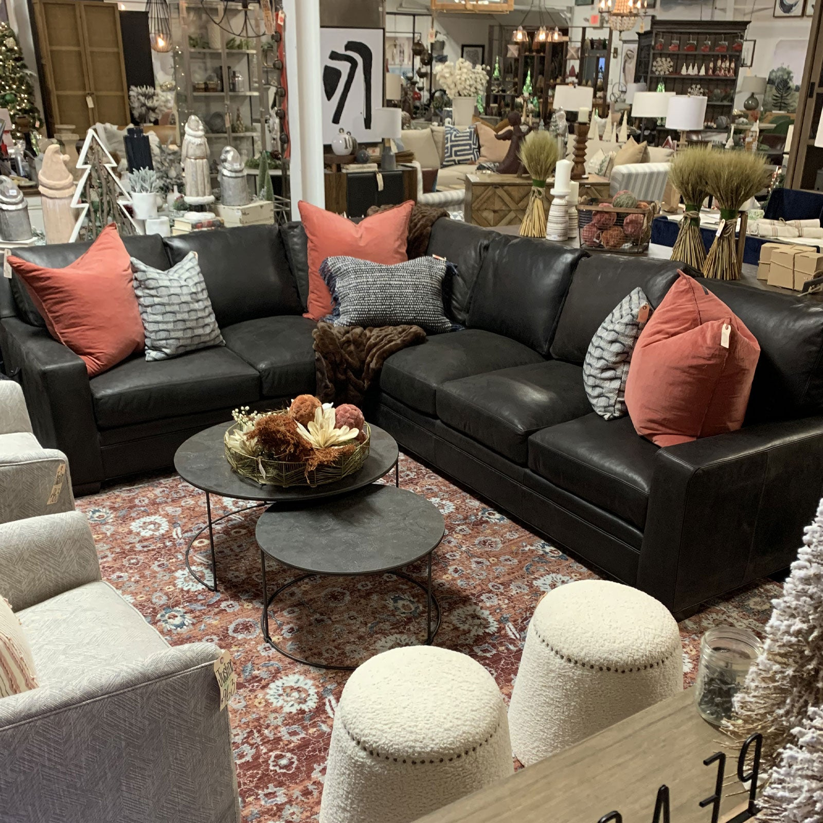 Hanley Leather Sectional
