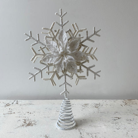 White Snowflake Tree Topper