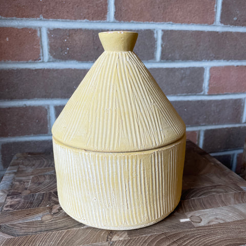 Textured Storage Container - Yellow