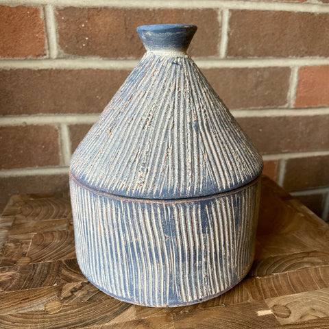 Textured Storage Container - Blue