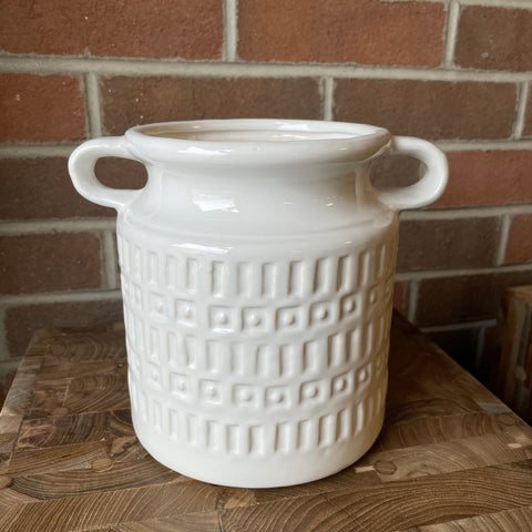 White Jar w/ Handles