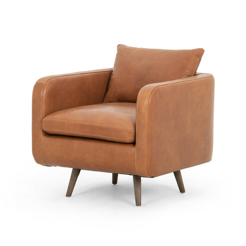 Kailey Leather Swivel Chair