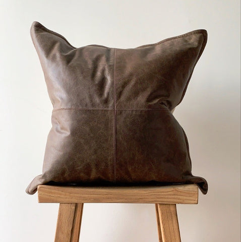 "22"" x 22"" Leather Pillow"