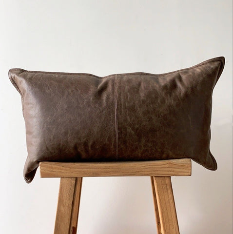 "14"" x 26"" Leather Pillow"