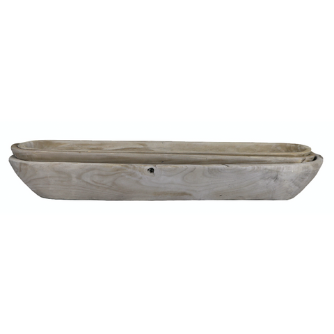 Round Dough Tray - Antique White