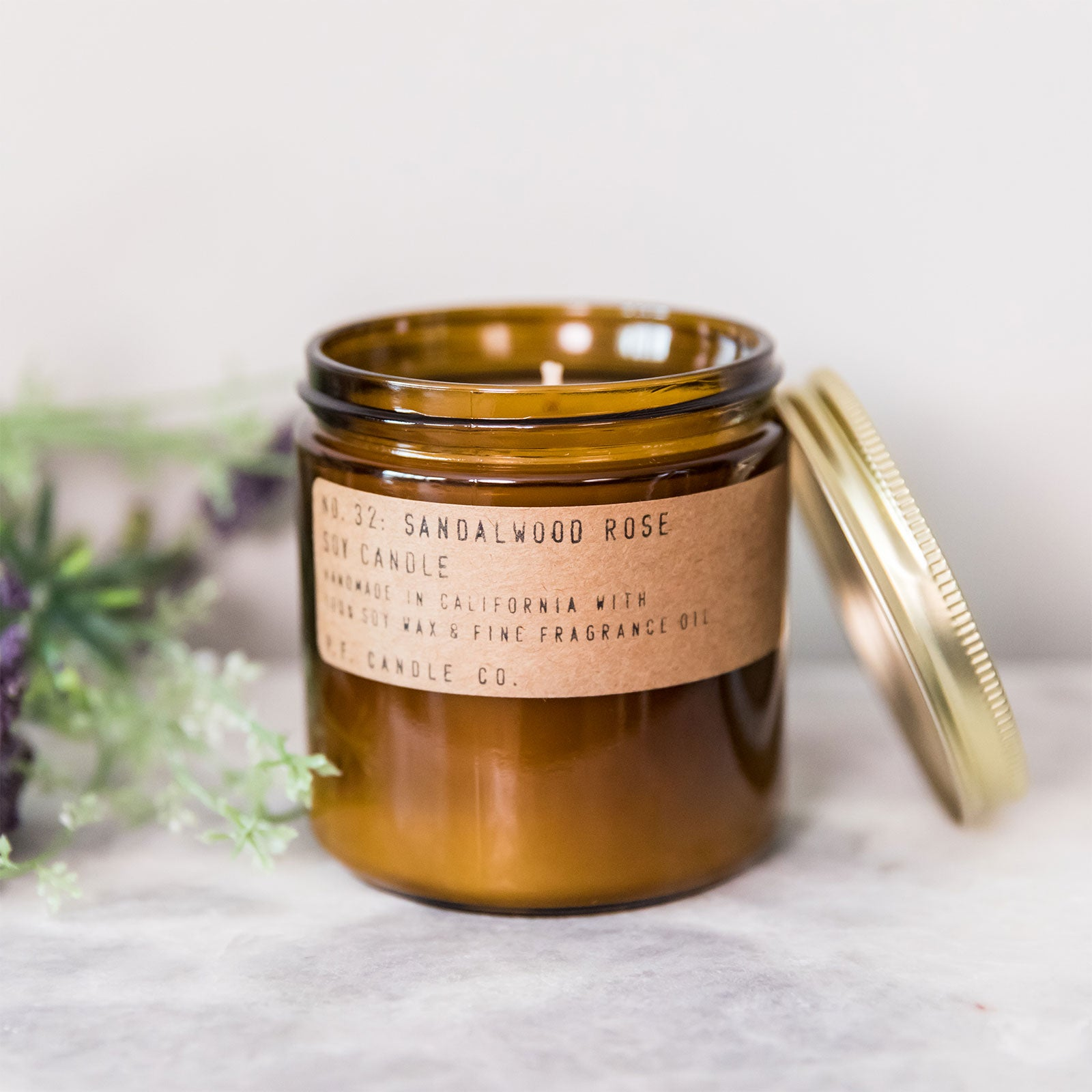 No. 32 Sandalwood Rose Soy Candle