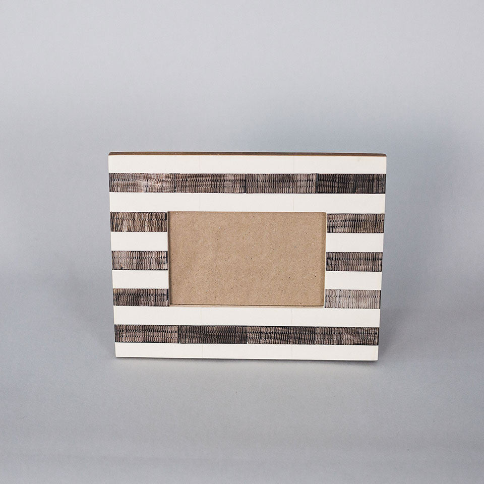 Striped Espresso & Cream Frame- 4x6