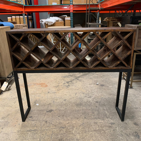 Tague Wine Rack Console