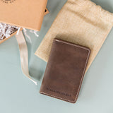 The Mountaineer Vertical Wallet- Saddle Brown