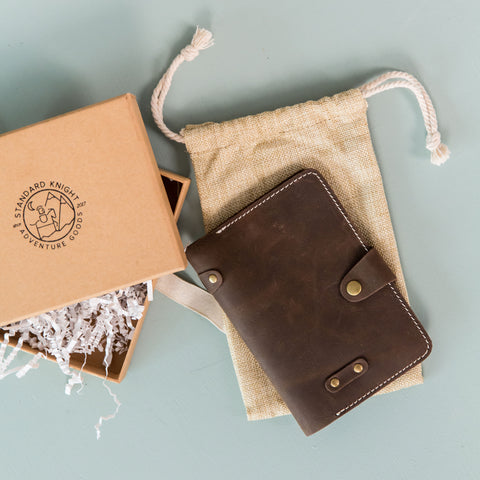 The Wanderer Field Notes & Passport Cover- Saddle Brown