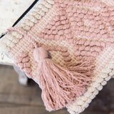 Handloomed Clutch- Cream & Blush