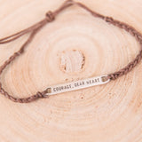 Braided Courage Bracelet- Brown