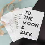 Pressed Paper Print- To the Moon and Back