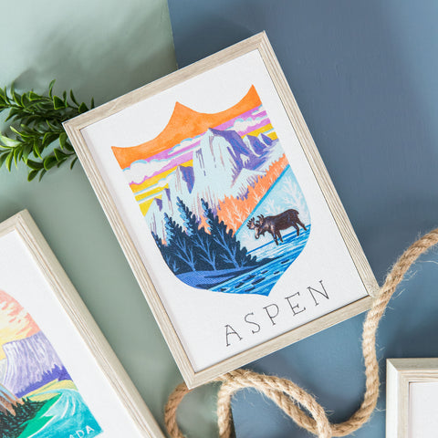 National Parks Mini Print- Aspen