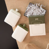 Flask with Canvas Carrier- Cream