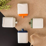 Flask with Canvas Carrier- Orange