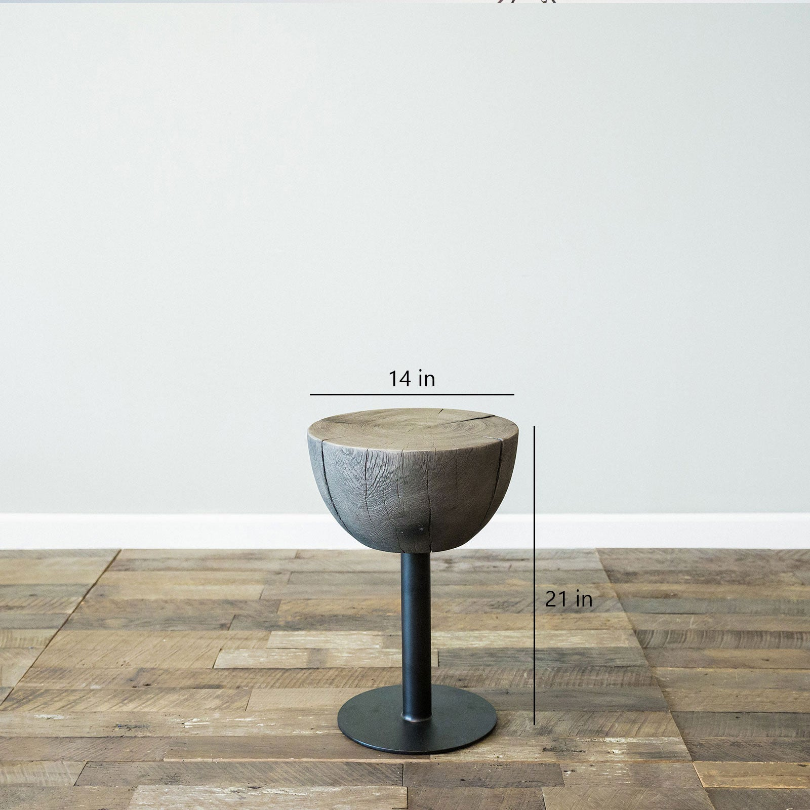 Drake Drum Table- Large Grey