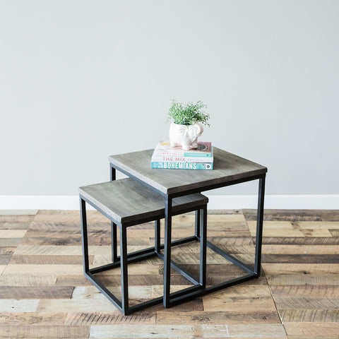 Metro Nesting Tables - Grey