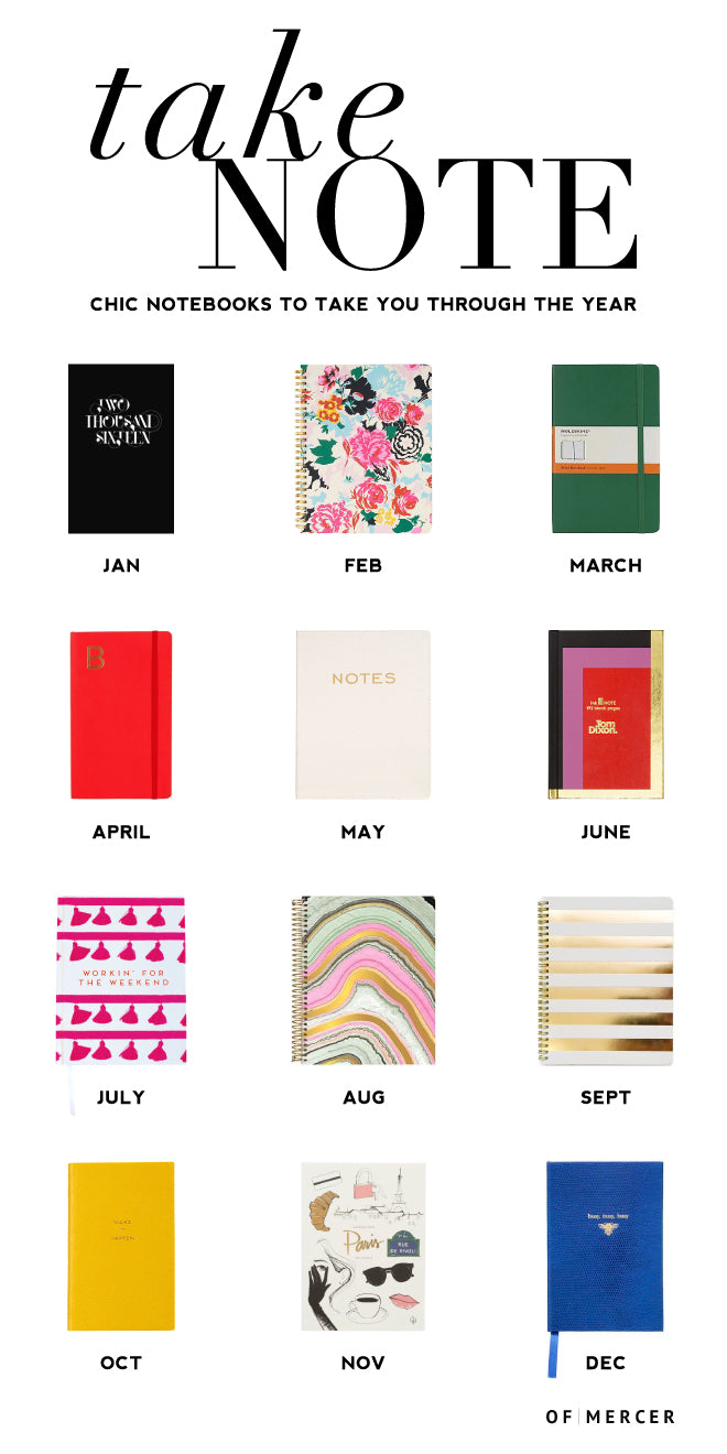 Noteworthy Notebooks 2016 | Of Mercer Blog