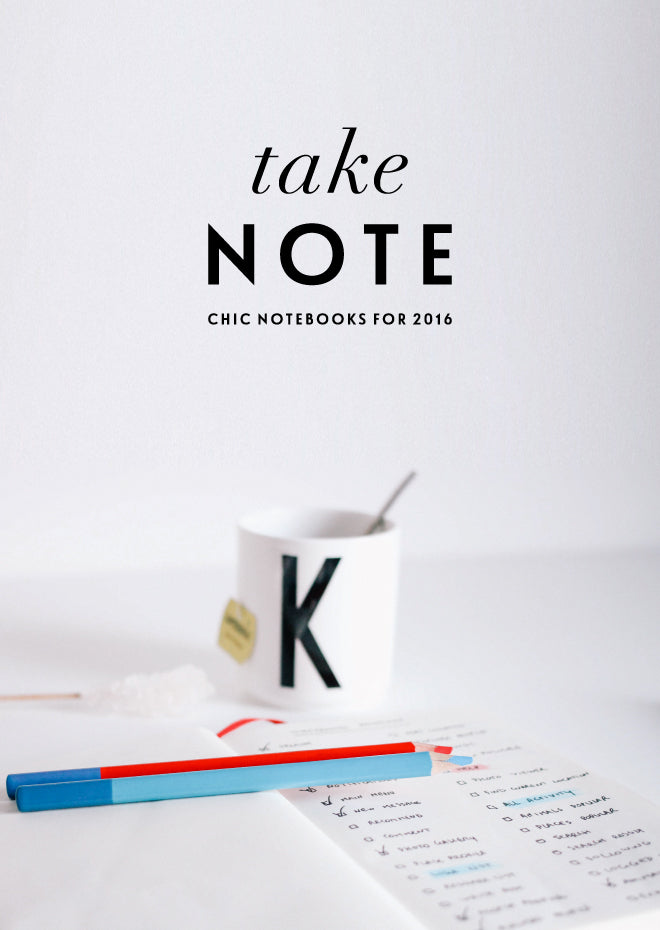 Noteworthy Notebooks 2016 | Of Mercer Blog | Title Image