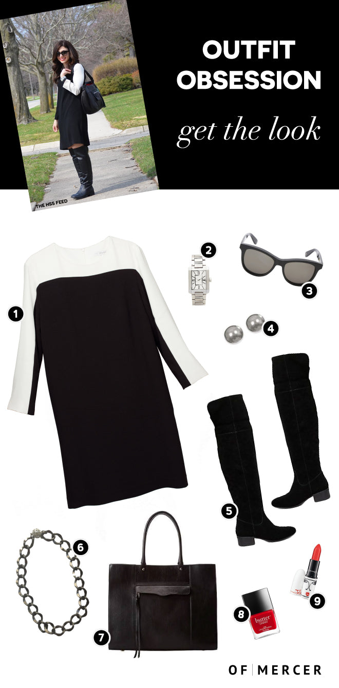 Black and White Dress Outfit Of Mercer Main Blog Image