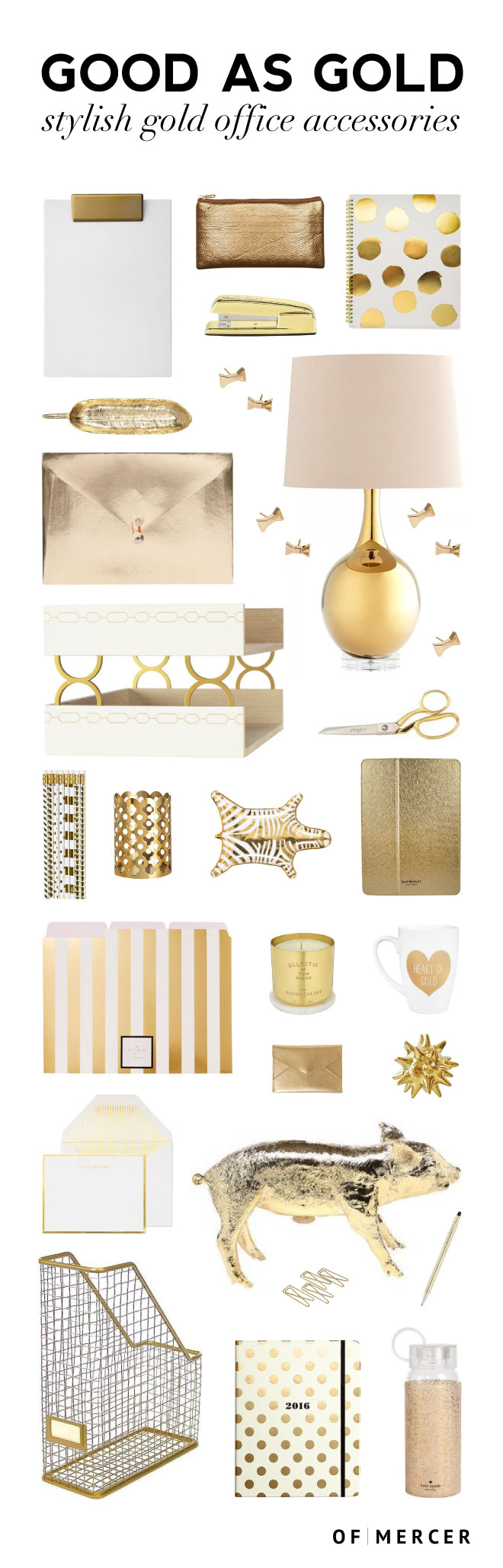 Gold Desk Accessories | Of Mercer Blog | Detailed Image