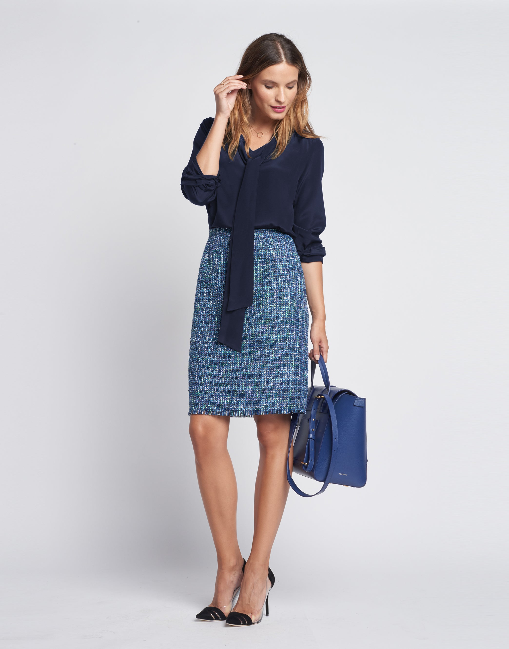 How to Style a Tweed Skirt for Business Casual