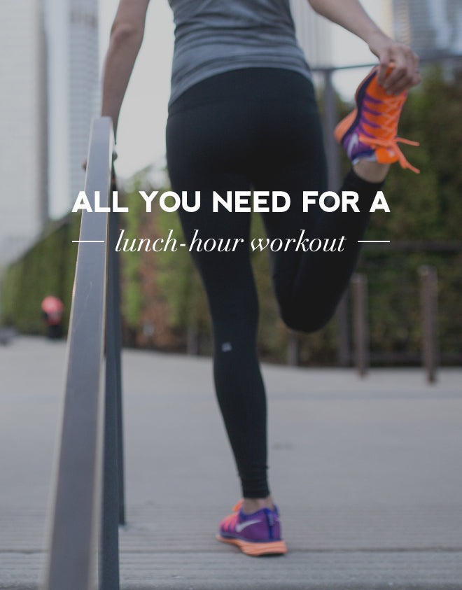 All you need for a lunch hour workout | Of Mercer Blog | Title Image