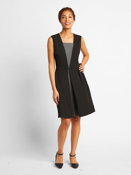 Grey/Black Barnard Dress