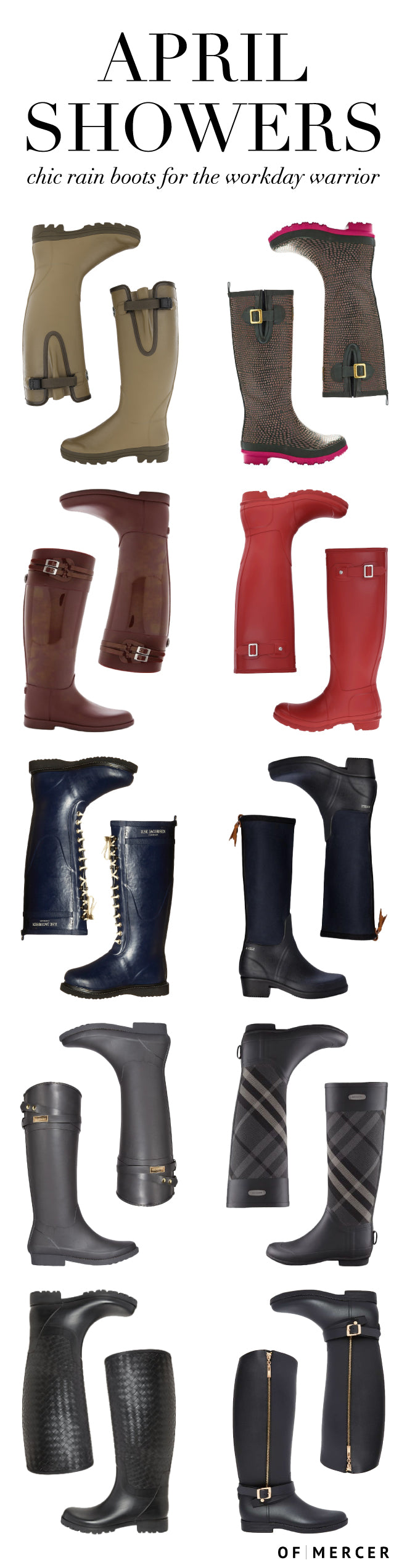 10 Chic Work Rain Boots - Of Mercer Blog Main Image