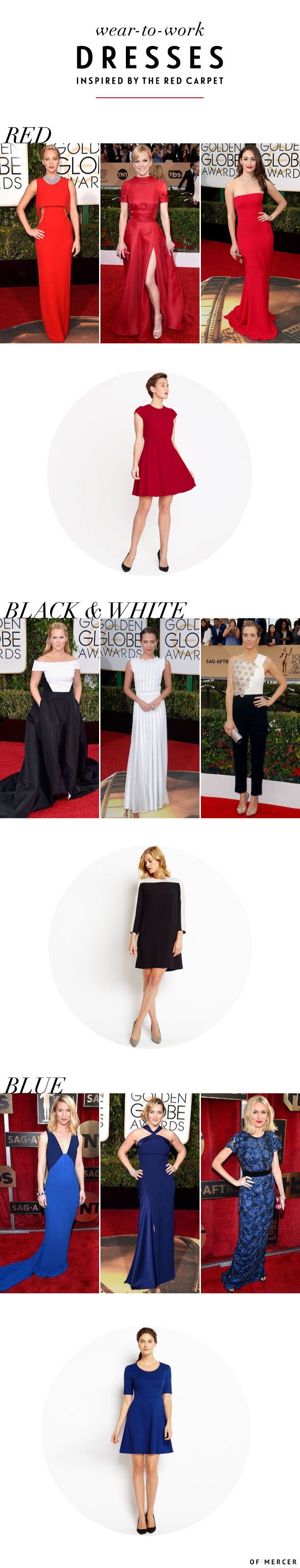 Red Carpet Inspired Wear to Work Looks | Of Mercer Blog Main Image