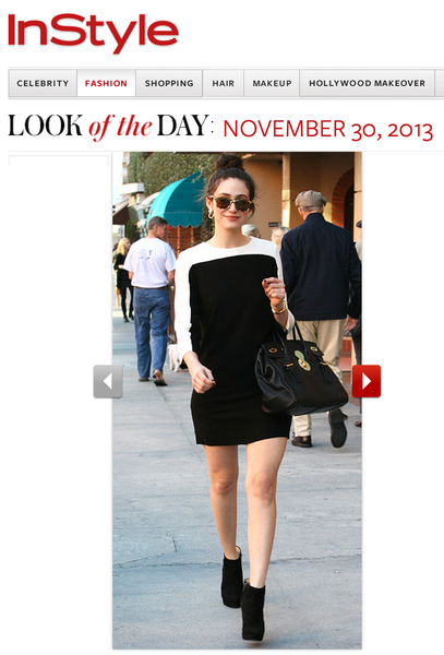 InStyle Look of the Day: Emmy Rossum in the Stanton Dress