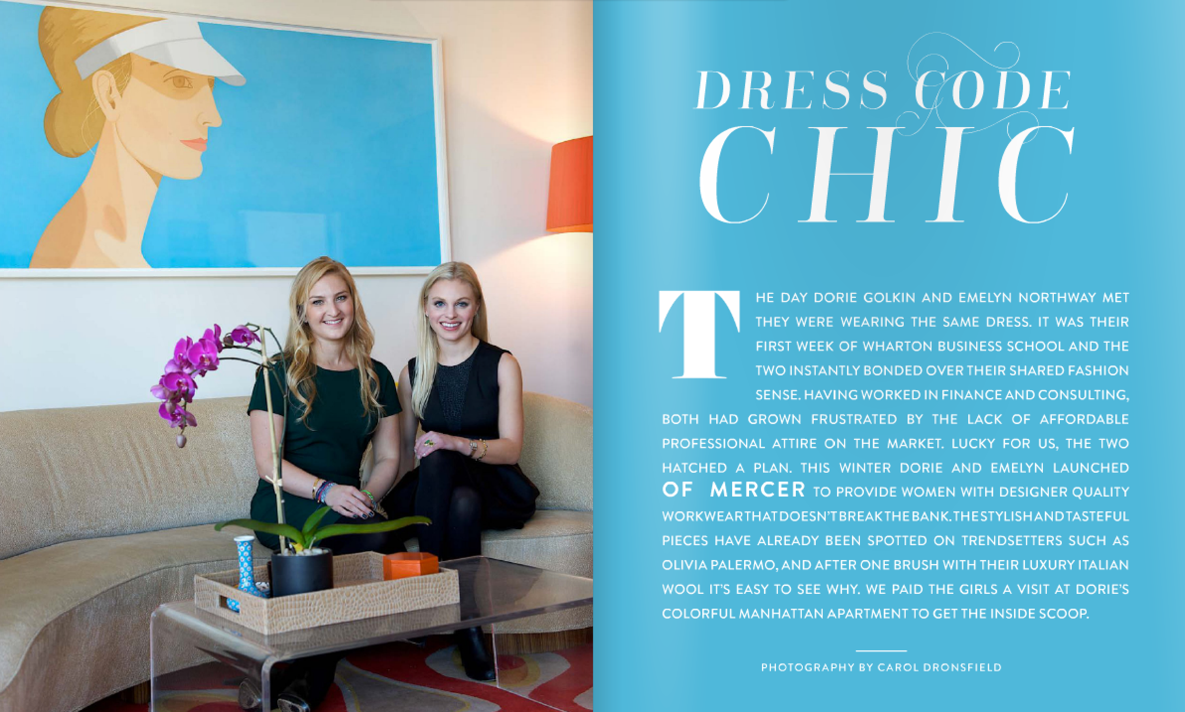 Of Mercer in Matchbook Magazine | Dorie & Emelyn