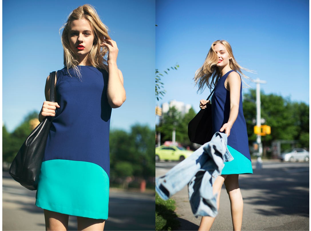 Summer Collection Lookbook - Perry Dress in Navy and Turquoise
