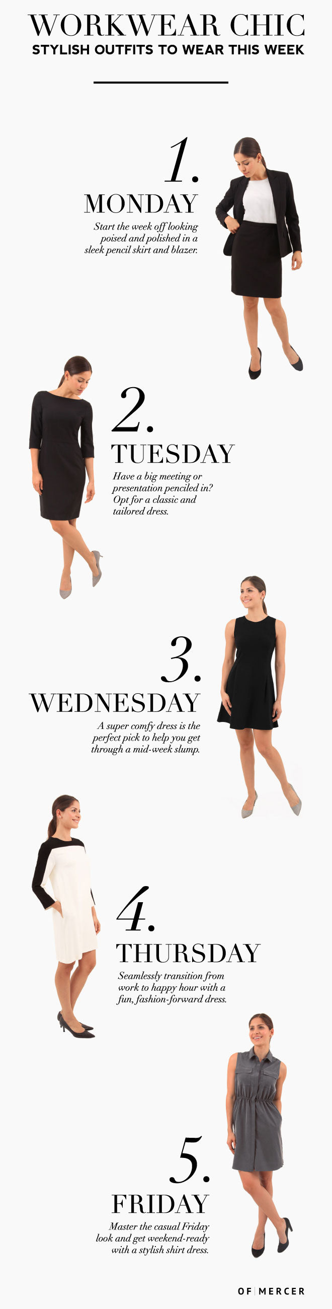 Five Chic Work Outfits Monday-Friday | Main Image