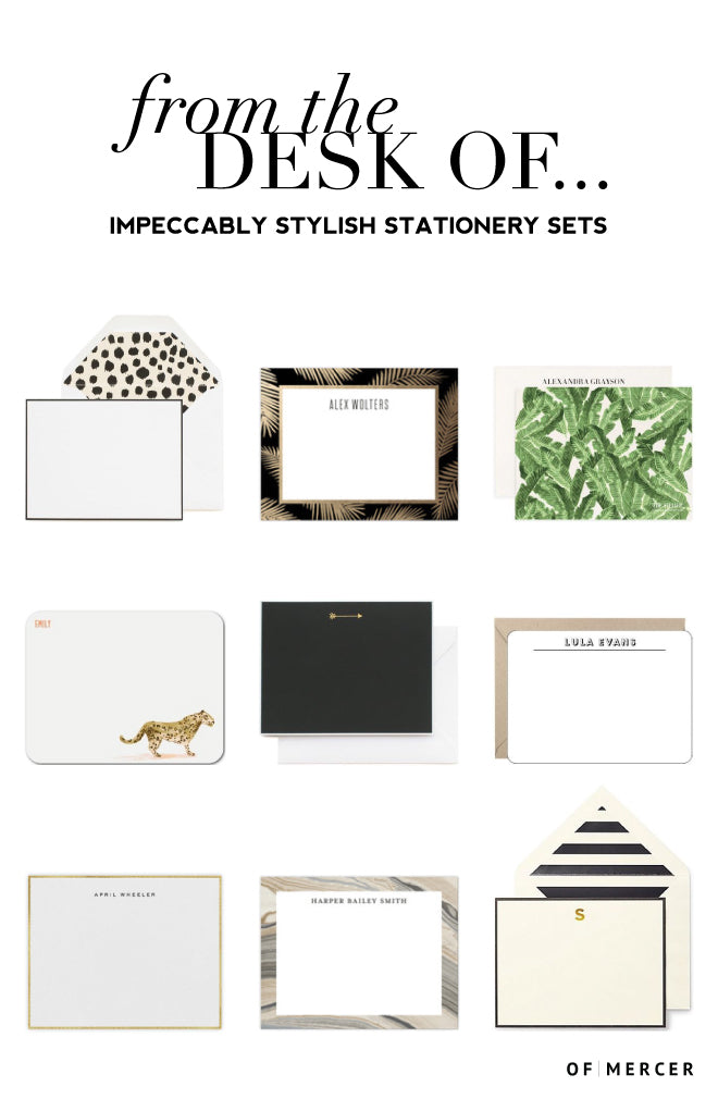 Professional Stationary | Stylish Notecards | Of Mercer Blog