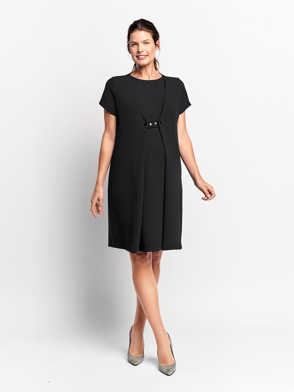 ee9328870d078 Black Brookfield Maternity Work Dress | Of Mercer