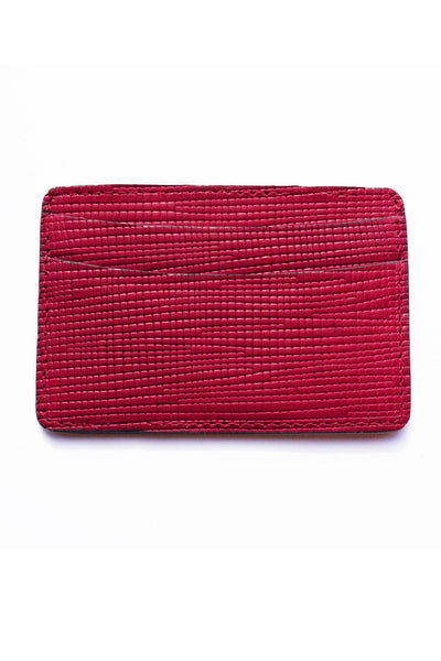 Magenta Leather Card Case | Of Mercer | Handcrafted