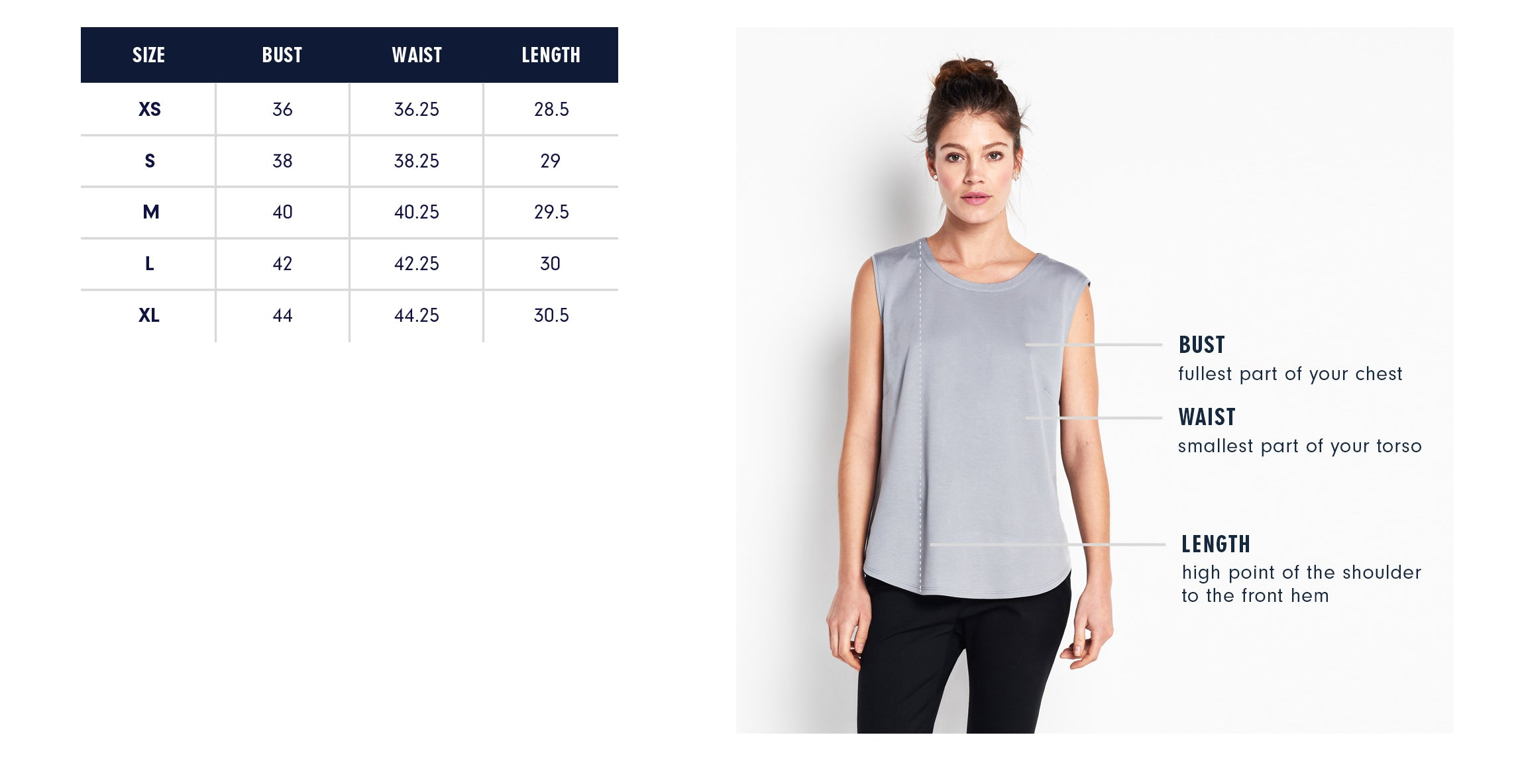 Of Mercer Chrystie Top Size Guide